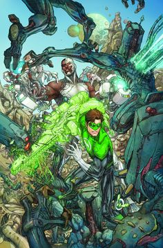 Cyborg #3 - Green Lantern variant cover by Kenneth Rocafort *