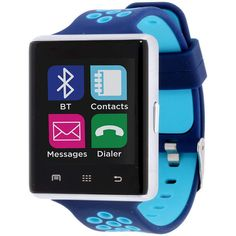 Itouch Silver Tone And Blue Perforated Strap Smartwatch. Featuring a square case and perforated rubber strap, this sleek smartwatch from iTouch makes sure you're up to date, no matter where your day takes you! Clean Your Car, Star Citizen, Level Up, Silver Man, Photo Jewelry, Heart Rate, Watch Bands, Games To Play, Apple Watch