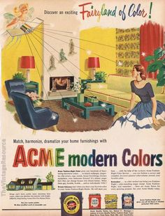 Take a look at this amazing home interior design trends and how they fit perfectly into your dining room decor! 1950s Advertising, Vintage Advertisements, Vintage Ads, Vintage Artwork, Vintage Prints, Vintage Illustrations, Vintage Industrial Decor, Retro Ads, Old Ads