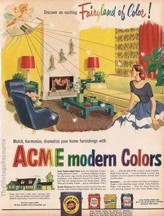 Acme paint, 1951