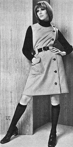 Nicole de Lamargé photographed by Hans-Peter Gaechter, Neue Mode January 1969   Magdorable!