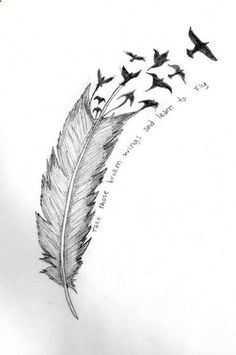 Ive seen these feather-into-birds tattoos everywhere, but for some reason I actually like this something stands out from the rest
