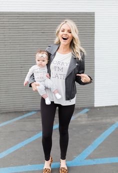 Sorry I'm Late matching tees. Mommy and me outfits