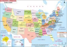 Mapa de #Estados #Unidos #mapsinspanish