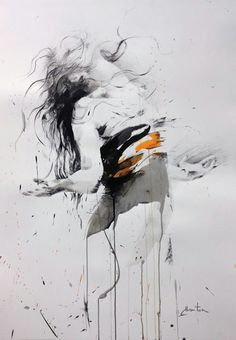 ewa hauton on paper # danse Painting Of Girl, Sketch Painting, Painting & Drawing, Art And Illustration, Art Sketches, Art Drawings, Figurative Kunst, Ouvrages D'art, Art Graphique