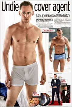 The hunk caused a stir posing in his white boxers