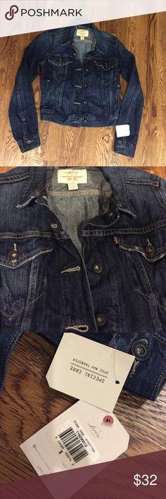 NWT Levi Denim Jacket NWT Levi's denim jacket.  Super cute!! Levi's Jackets & Coats Jean Jackets