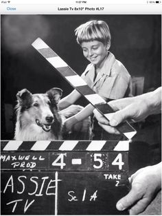 Tommy Rettig and Lassie
