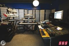 Levcon Studio (part of Bruno Mars' production team) is asurprisingly modest affair, dominated by racks of synths — and containing only one microphone!