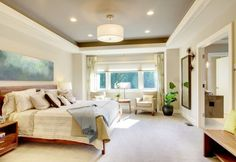 Simple and stylish tray ceiling design is perfect for every contemporary home