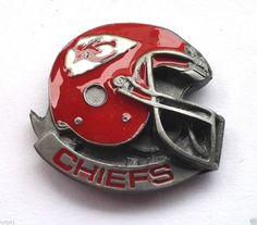 *** KANSAS CITY CHIEFS HELMET *** Novelty NFL Hat Pin P52028 EE