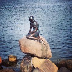 Den Lille Havfrue (The Little Mermaid) in København Ø, Region Hovedstaden