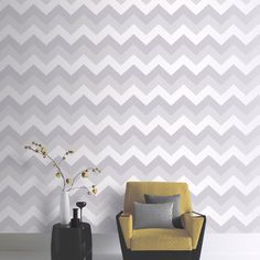 ARTHOUSE-GLITTERATI-CHEVRON-amp-PLAIN-GLITTER-WALLPAPER-PLATINUM-SILVER-WHITE