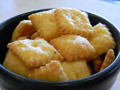 *Homemade Cheez-Its Recipe (dont add salt or pepper and add less than 3/4 cup flour)
