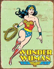 Vintage Wonder Women Super Hero  Tin Sign on Etsy, $19.99