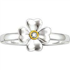 925 Sterling Silver & Diamond Ring
