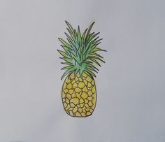 Pineapple watercolour pencils