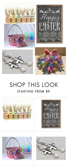 """""""happy easter"""" by gogietha ❤ liked on Polyvore featuring interior, interiors, interior design, home, home decor and interior decorating"""