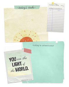 fun printouts to organize your day