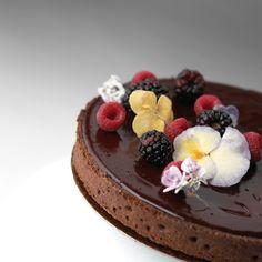 Chocolate Hibiscus Tart by Payard, NYC