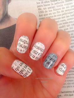 Con periódico Nail Art, Nails, Fingernail Designs, Colombia, Finger Nails, Ongles, Nail Arts, Nail, Manicures