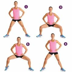 Plies Squat Exercise- 10 Best Exercises to Lose Thigh Fat Fast in a Week at Home Lose Thigh Fat Fast, Burn Belly Fat Fast, Lose Body Fat, Reduce Belly Fat, Lose Belly, Belly Fat Workout, Butt Workout, Abdominal Workout, Belly Workouts