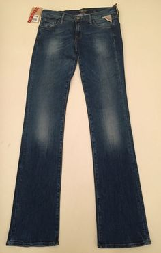 Womens Replay Jeans 27 x 34 Slim Bootcut New Authentic Replay Jeans, Blue Jeans, Slim, Pants, Ebay, Women, Style, Fashion, Trouser Pants