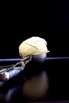 peaches with lemon yogurt honey cream frosting lemon verbena ice cream ...