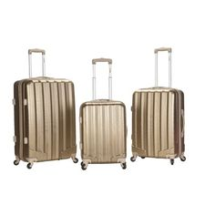 Rockland Metallic 3-Piece Upright luggage set