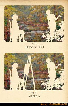 Diferencias entre pervertido y artista | Risa Sin Más