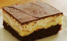 Božské banánové rezy OPIČKA   Božské recepty Cake & Co, Eat Cake, European Dishes, Cheesecake Cupcakes, Sweet Cakes, Sweet And Salty, Sweet Desserts, No Bake Cake, Nutella
