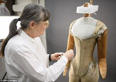 Hidden details: The garment was designed in a way to allow Elizabeth a little extra room