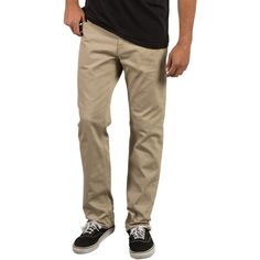 Men's Volcom Solver Slub Five-Pocket Pants ($43) ❤ liked on Polyvore featuring men's fashion, men's clothing, men's pants, men's casual pants, khaki, mens five pocket pants, mens slim fit pants, men's 5 pocket pants, mens khaki pants and volcom mens pants