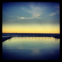 Austinmer pool sunset, Wollongong, NSW  Courtesy of: @nickpmclaren  27/06/2012