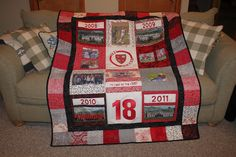 graduating senior soccer quilt-quilted by Hummingbird Hill Quilting