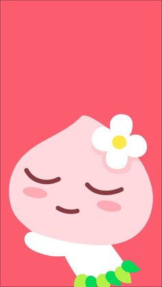 Best Quotes Wallpapers, Simple Wallpapers, Peach Wallpaper, Iphone Wallpaper, Kawaii Drawings, Cute Drawings, Apeach Kakao, Kakao Friends, Instagram Background