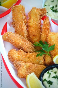 Super crispy, crunchy and easy to make Gluten Free Fish Sticks from What The Fork Food Blog. Perfect for Fish Friday and they're a kid-friendly family favorite.