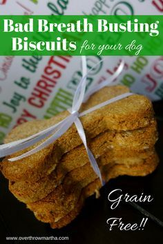 bad breath busting #dogtreats for your #dog with peppermint #essentialoil