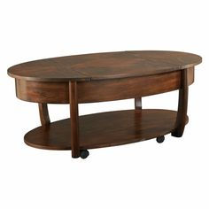 Hammary Concierge Oval Lift-Top Coffee Table