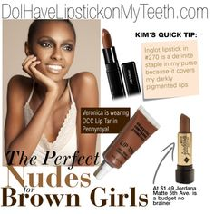 """""""Nudes for Brown Girls"""" by kimwhitemakeup on Polyvore"""