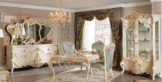 Sude Lüks Klasik Yemek Odası Takımı. #YemekOdası #DiningRoom #Decoration #Ev #Dekorasyon #Moda #Mobilya #Furniture