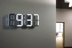 White & White LED Clock is a 3D version of traditional digital timer