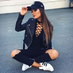 29 Summer Casual Style Looks For Work fashion Cool Street Style Ideas Cute Summer Outfits, Trendy Outfits, Trendy Fashion, Girl Outfits, Fashion Outfits, Fashion Trends, Trendy Style, Moda Outfits, Teenage Outfits