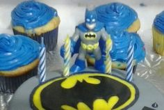 Have your batman toy hold the candles!