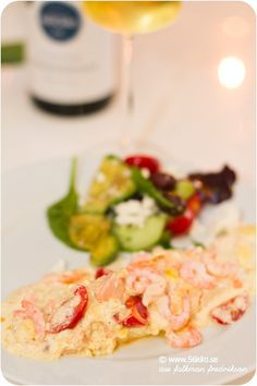 Salmon Dishes, Shrimp Dishes, Feta, Potato Salad, Brunch, Food And Drink, Chicken, Healthy, Ethnic Recipes