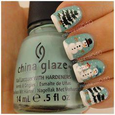 winter by melissarose0410 christmas #nail #nails #nailart