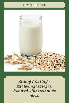 Egészséges recept - A növényi tejek egyre jobban hódítanak. Van, aki teljesen kiváltja velük a tejet étkezéséből, van aki csak étkezése változatosabbá tétele miatt fogyasztja őket. A boltban elég borsos áron mérik ezeket az italokat és az embereknek fogalmuk sincs arról, hogy milyen könnyű előállítani a finom. Kattints a képre a teljes receptért! Healthy Drinks, Glass Of Milk, Cooking, Smoothie, Food, Kitchen, Essen, Smoothies, Meals