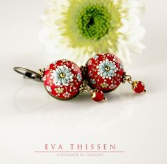 RED DELICIOUS sweet and simple handmade polymer clay earrings. Made to order.. $39.00, via Etsy.