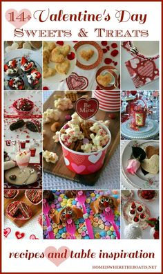 14+ Sweets & Treats, recipes and table inspiration for Valentine's Day | Home is Where the Boat Is