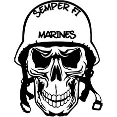 Semper Fi Marines Skull Laptop Car Truck Vinyl Decal Window Sticker PV117